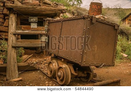 Jerome Arizona Ghost Town Mine Car