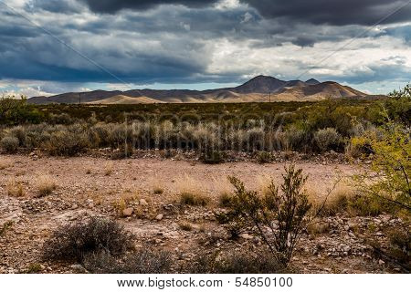 West Texas desert landscape.