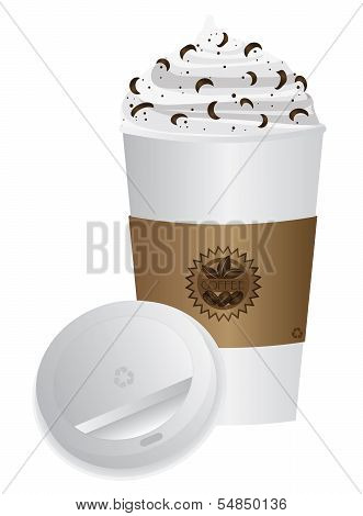 Espresso Drink To Go Cup With Lid Illustration