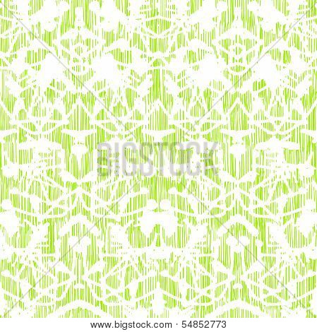 Damask pattern with abstract hand painted shapes