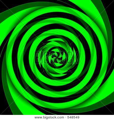 Vertigo Green Geometric