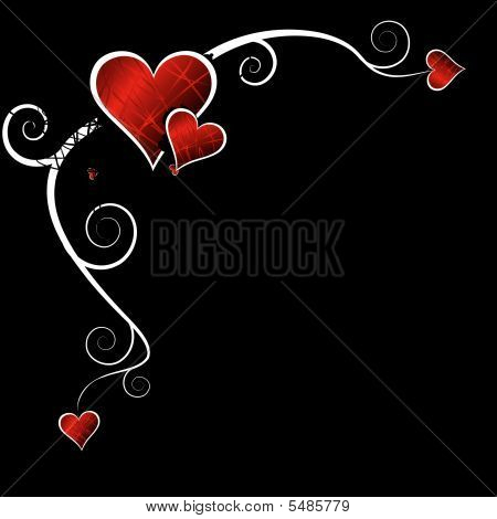 Funky Hearts With Copy Space, Vector