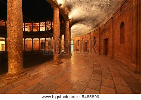 Patio In The Palace Of Charles V