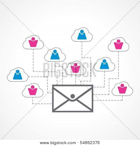 Global communication concept stock vector