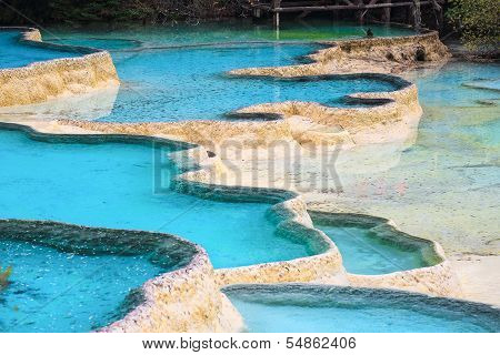 Beautiful Travertine Ponds