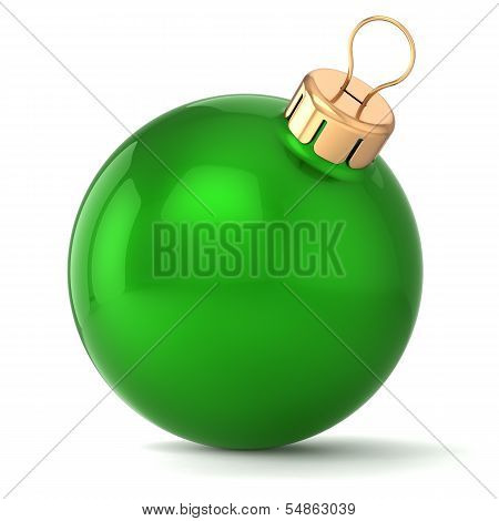 Christmas ball New Years Eve bauble decoration green wintertime ornament icon