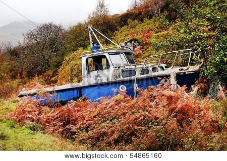 Abandonned ship wreck