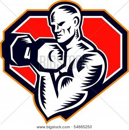Strongman Lifting Dumbbell Retro