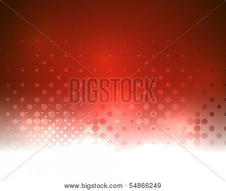 Red shiny bokeh abstract vector background