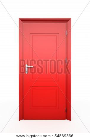 Closed Red Door