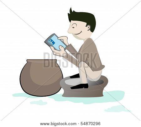 Smart Phone Addiction Concept