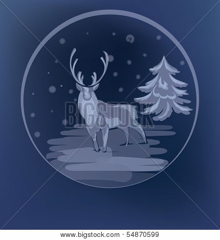 Christmas standing raindeer background