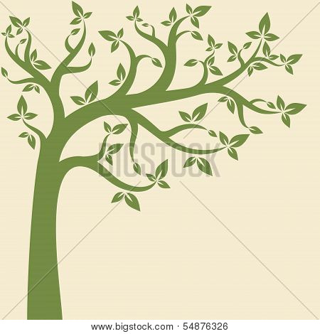 Decorative trees background