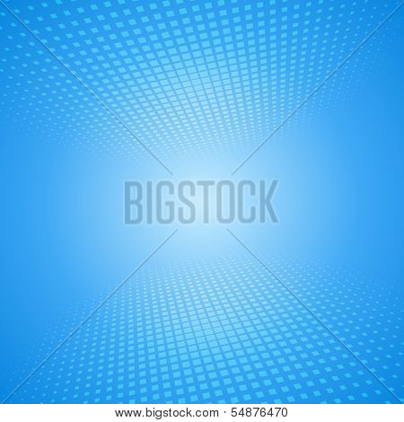 White and blue abstract background with squares