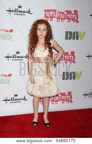 LOS ANGELES - DEC 1:  Francesca Capaldi at the 2013 Hollywood Christmas Parade at Hollywood & Highland on December 1, 2013 in Los Angeles, CA