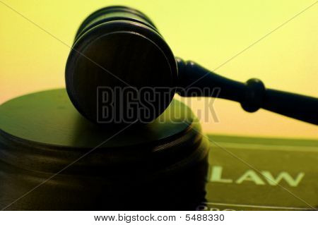 Gavel On Law Book