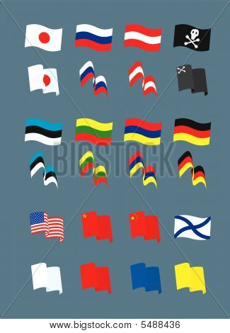 Set with many different flags