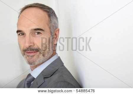 Confident 50-year-old businessman