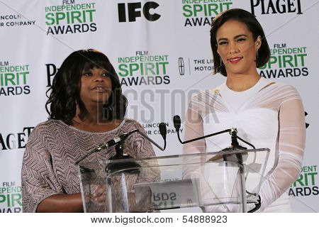 LOS ANGELES - NOV 26: Octavia Spencer, Paula Patton at the 2014 Film Independent Spirit Awards Nominations Press Conference at W Hollywood on November 26, 2013 in Los Angeles, CA