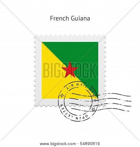 French Guiana Flag Postage Stamp.