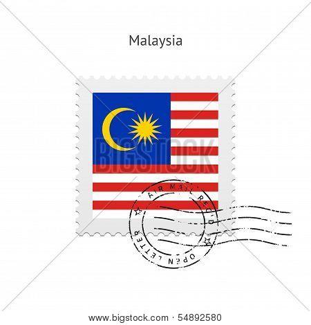 Malaysia Flag Postage Stamp.