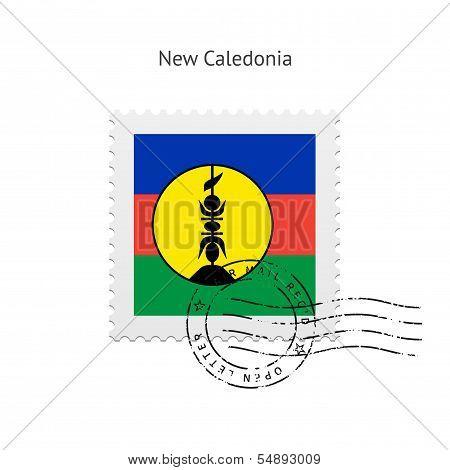 New Caledonia Flag Postage Stamp.