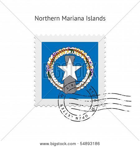 Northern Mariana Islands Flag Postage Stamp.