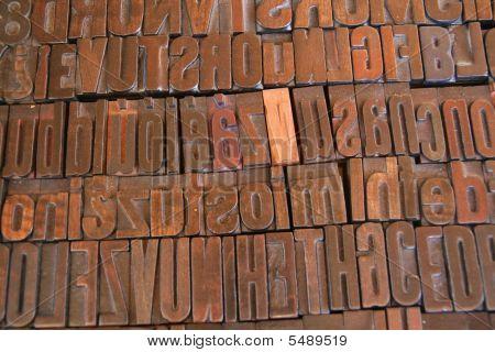 Arrangement Of Printing Letters