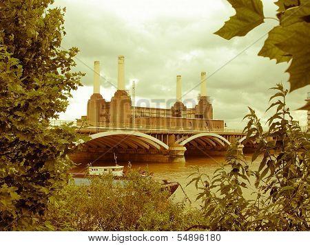 Retro Looking Battersea Powerstation London