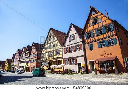 Famous Old Romantic Medieval Town Of Dinkelsbuehl