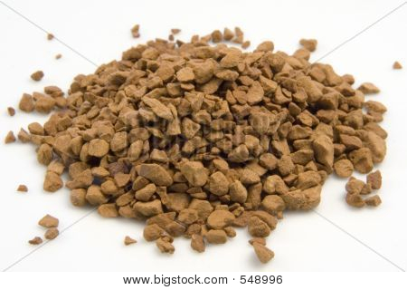 Instant Coffee Granules In A Pile.