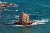 Coastal Sea Rocks Beautiful View Resort Landscape In Tarhankut, Crimea, Ukraine
