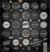 stock photo of chalkboard  - Vector set of calligraphic vintage elements - JPG