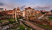image of saturn  - Panorama of Roman Forum  - JPG
