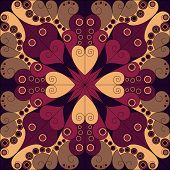 pic of iranian  - Colorful vector ornamental patterned background - JPG