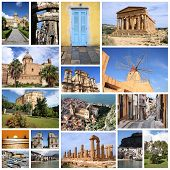 picture of marsala  - Photo collage from Sicily island Italy - JPG