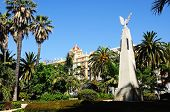 Monument in park, Malaga, Spain