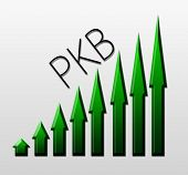 picture of macroeconomics  - Chart illustrating PKB growth macroeconomic indicator concept - JPG
