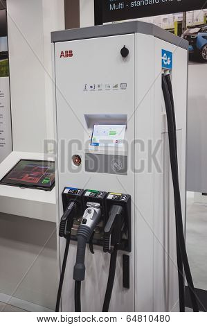 Abb Charging Station At Solarexpo 2014 In Milan, Italy