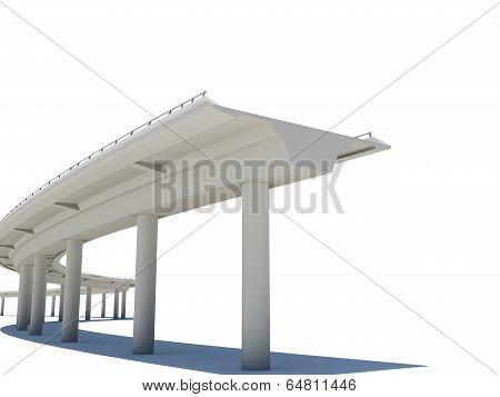 Part of the road bridge