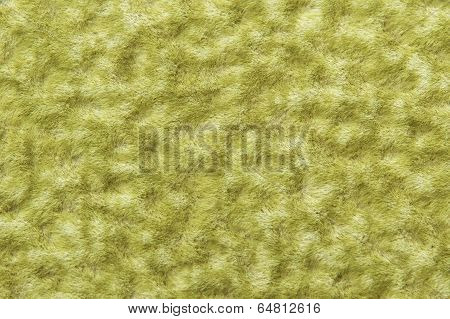 Wool Texture Background, Macro Of Green Woolen Fabric, Hairy Fluffy Textile