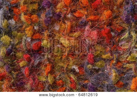 Woolen Texture Background, Knitted Color Wool Fabric, Multicolor Hairy Fluffy Textile