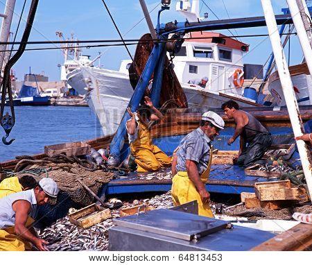 Spanish fishermen, Garrucha.