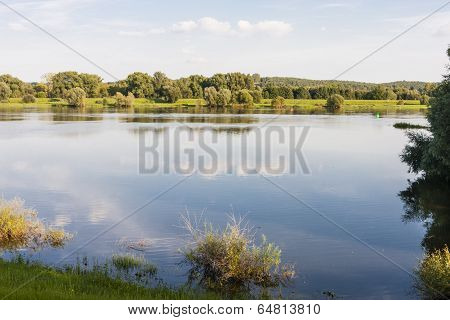 River Oder Between Germany And Poland