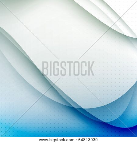 Abstract Blue Waves Modern Background