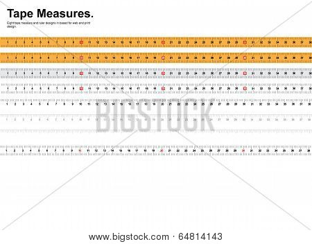 Tape Measure and Ruler Set