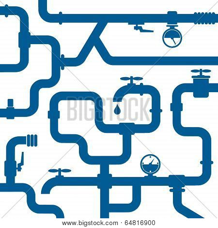 Background of water pipeline