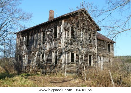 Old Wood Frame Abandoned House