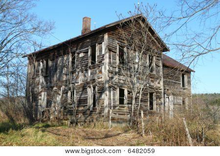 Old Wood Frame Abandoned House