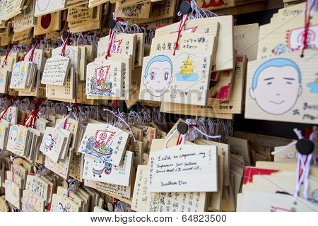 Ema Praying Tablets At Shinto Shrine, Kinkaku-ji